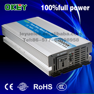 Leyu Brand High Efficiency DC 12/24/48V to AC 100/110/120V 2000w max 4000w power inverters pure sine wave