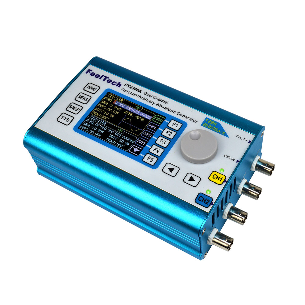 200MSa/s 12MHz Digital Signal Generator DDS Dual-channel function Generator Arbitrary Waveform Frequency Generator Meter free shipping mhs 3200a 12mhz dds nc dual channel function signal generator dds signal source 4 kinds of waveform output