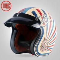 TORC New Vintage Helmet Motorcycle Motorbike Motocross Helmet Capacete Casco Open Face Jet Retro Scooter Helmet