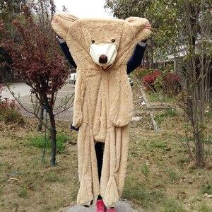 Image 2 - 100cm 200cm America Giant Teddy Bear Plush Toys Soft Teddy Bear Skin Popular Birthday & Valentines Gifts For Girls Kids Toy