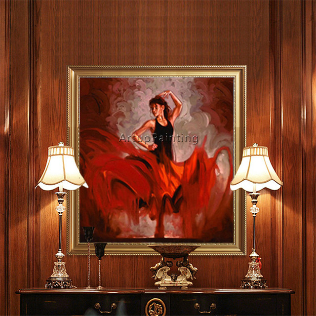 Spanish Flamenco Dancer painting caudros decor latina woman Oil painting on canvas hight Quality Hand-painted Painting latina12
