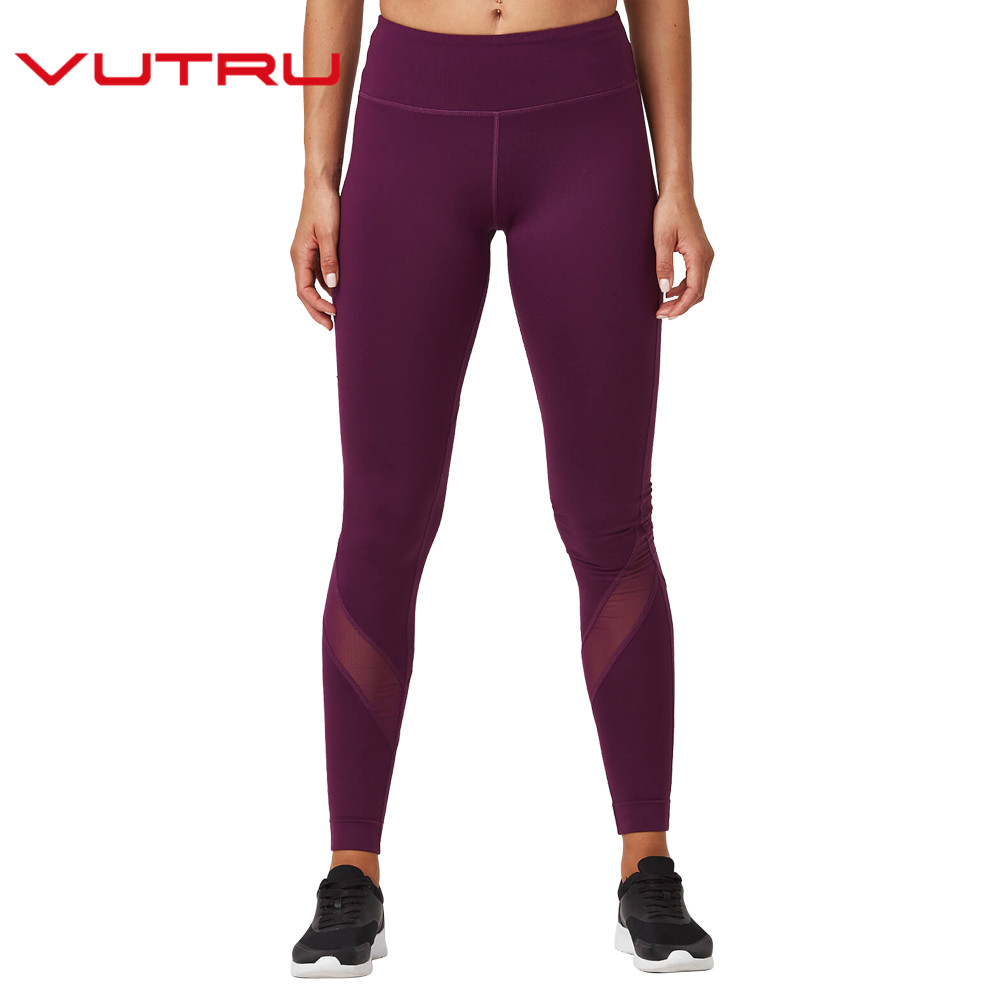 Vutru Femmes Yoga Pantalon Lady Sport Gym TightsWoman Caleçons De Sport De Sport Fitness Mince Maille V8LD071Z dans Yoga Pantalon de Sports et loisirs