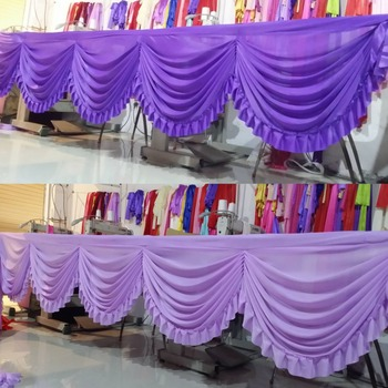 White wedding swag curtain backdrop for table skirt drops party banquet birthday decoration