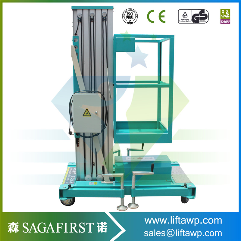 Mobile Electric Lift Hydraulic Aluminum Alloy With 2-4 Masts Aluminum Lift