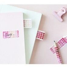 6 pcs Kawaii Color block paper washi tape set 20mm paper masking tapes Fresh scrapbooking  sticker Stationery FJ133