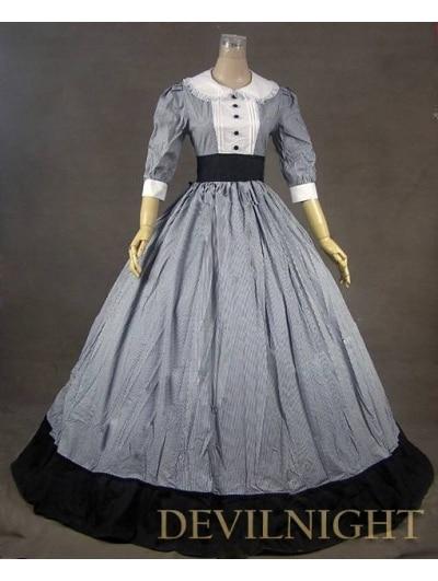 Klasické viktoriánské šaty s půl rukávy