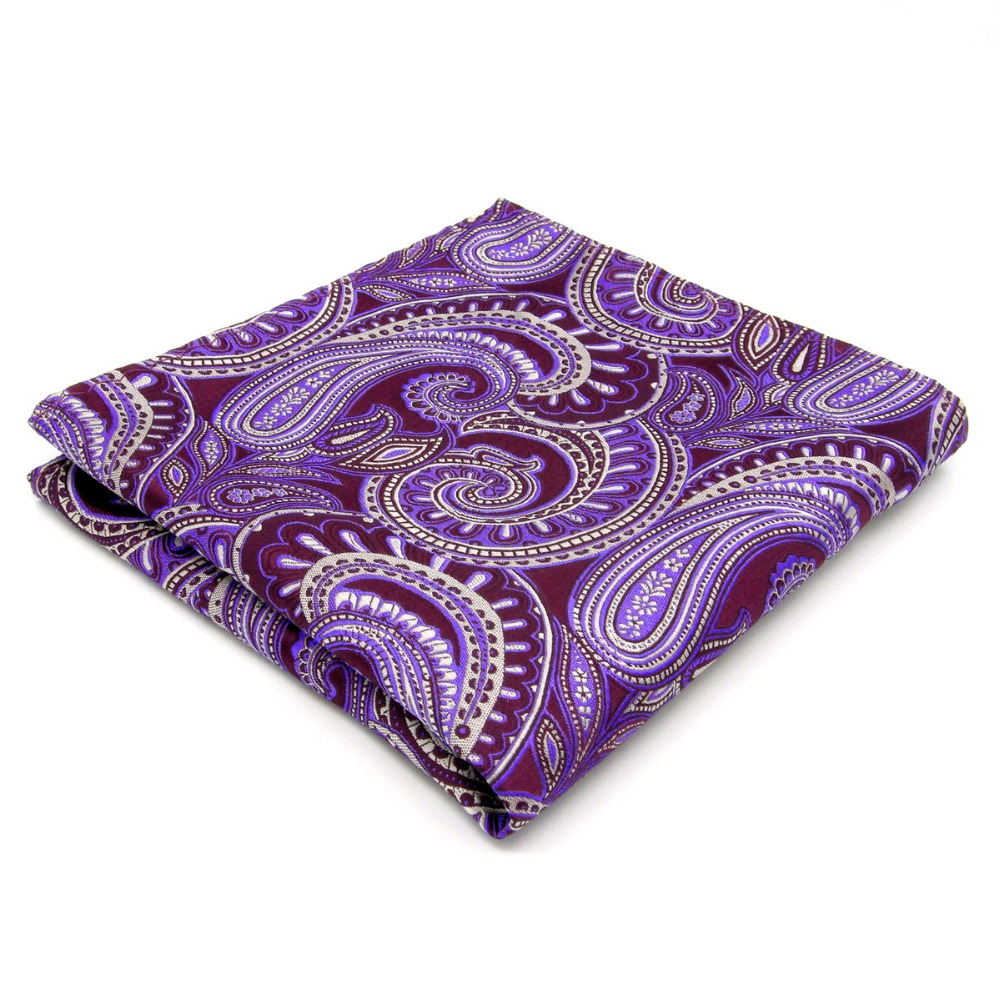 Handkerchief Hanky Paisley Purple Lavender Handkerchieves Mens Pocket Square