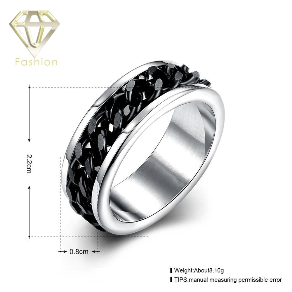 Awesome Gay Engagement Rings Unique Cool 316L Stainless Steel Ring With Black Color  Rotating Chain In The Center Jewellery Wholesale In Rings From Jewelry ... Amazing Pictures