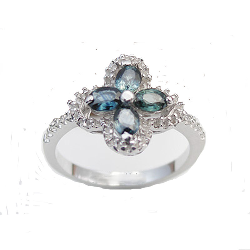 2017 Qi Xuan_Dark Blue Stone Elegant And Generous Individuality Ring_S925 Solid Silver Fashion Ring _Manufacturer Directly Sales2017 Qi Xuan_Dark Blue Stone Elegant And Generous Individuality Ring_S925 Solid Silver Fashion Ring _Manufacturer Directly Sales