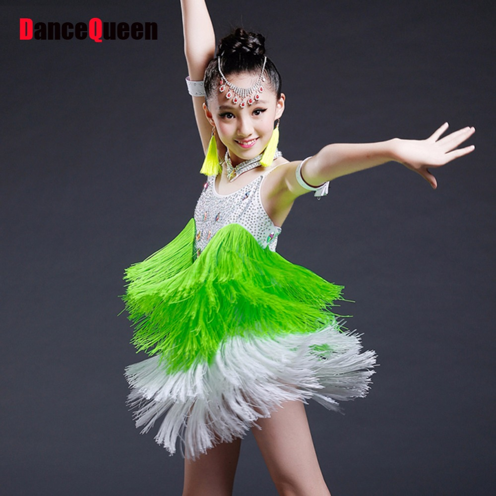Latin Dance Earrings: Aliexpress.com : Buy Girl Latin Dance Costumes 5Pcs(Dress