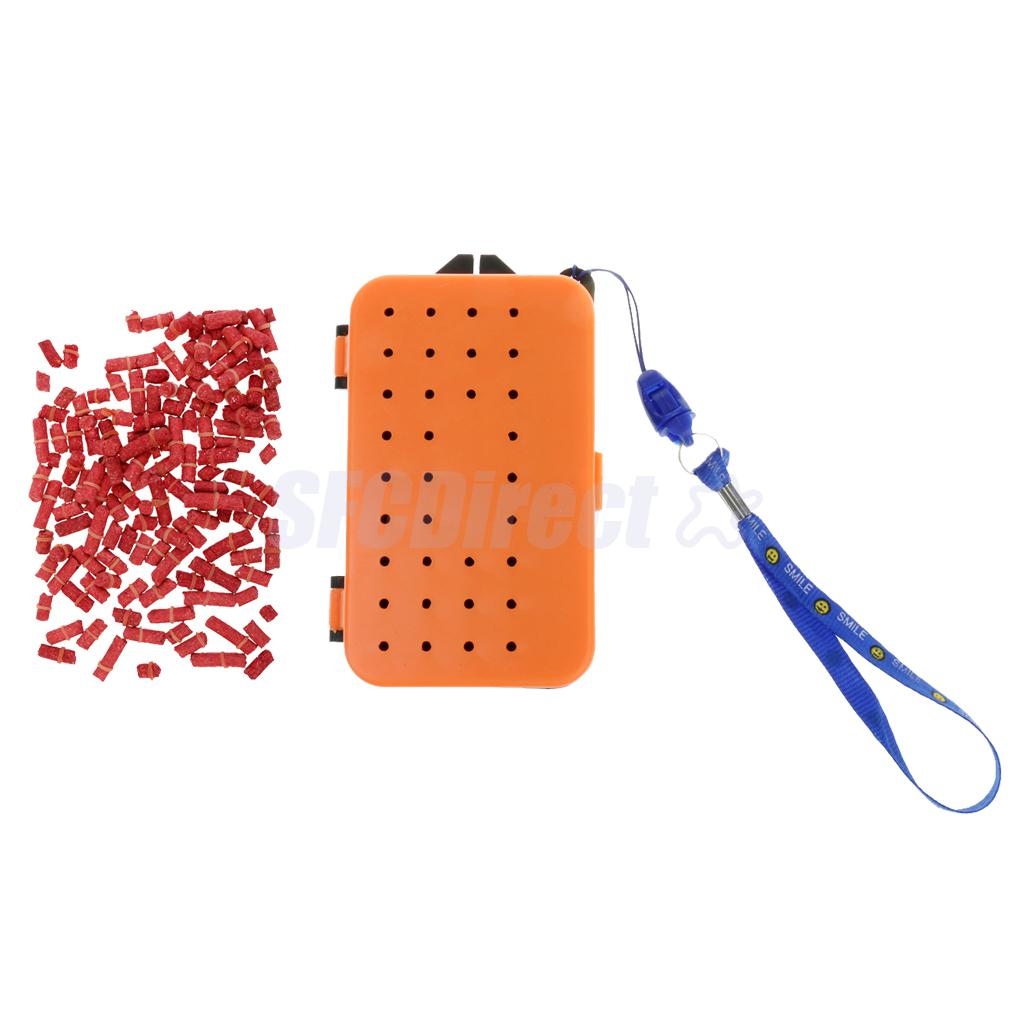 2 Compartments Fishing Baits Earthworm Storage Box Lures Case Orgnizer for Outdoor Fishing