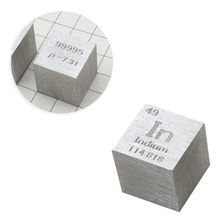 10X10X10mm alambre-dibujo indio cubo tabla periódica de elementos cubo (In≥99. 995%) regalo de juguete educativo chico niños y adultos(China)