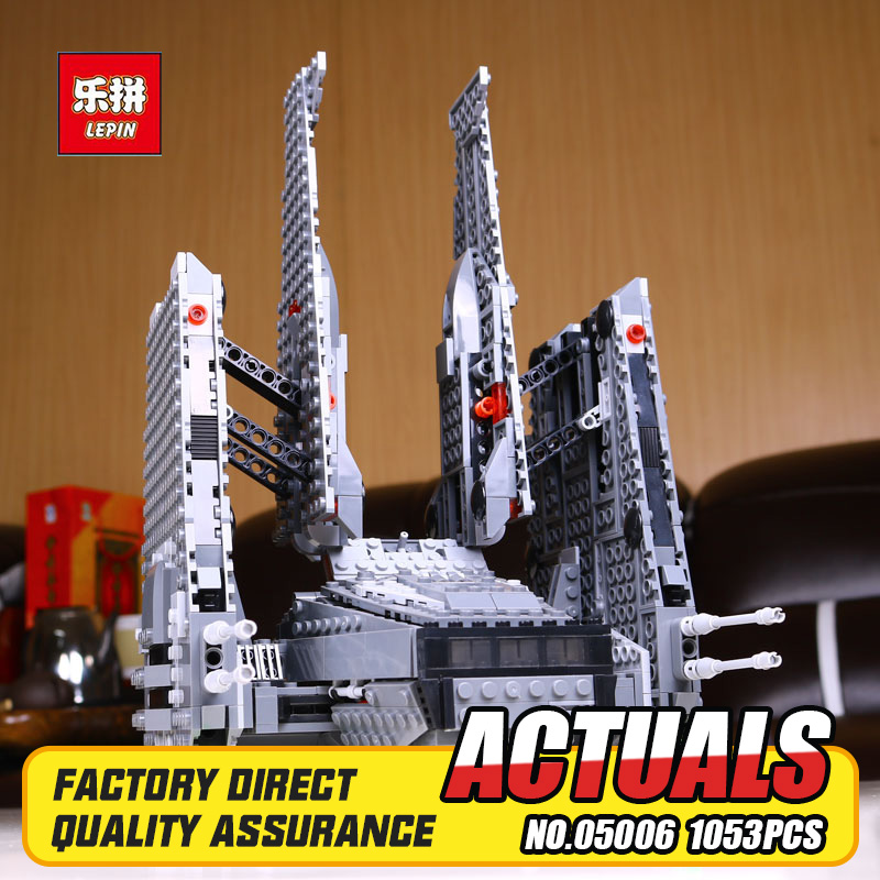 New Lepin 05006 Star Wars Kylo Ren's Command Shuttle toys building blocks marvel blocks brinquedos Educational DIY toys 75104 star wars 75104 командный шаттл кайло рена