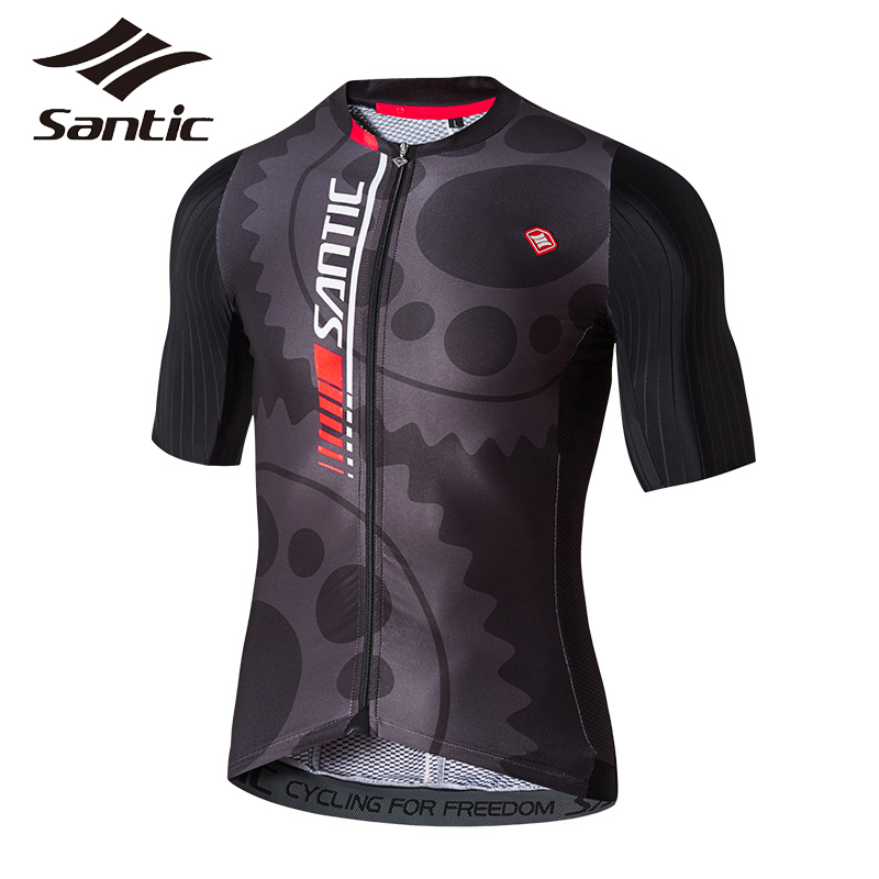 SANTIC 2017 New Men Bicycle Bike Zipper Jerseys MTB Road Cycling Pro Team Top Short Sleeve Breathable Jersey Cycling Clothing santic men cycling jersey 2018 pro team road mtb bike suit short sleeve sets anti pilling bicycle clothing cycling skinsuits