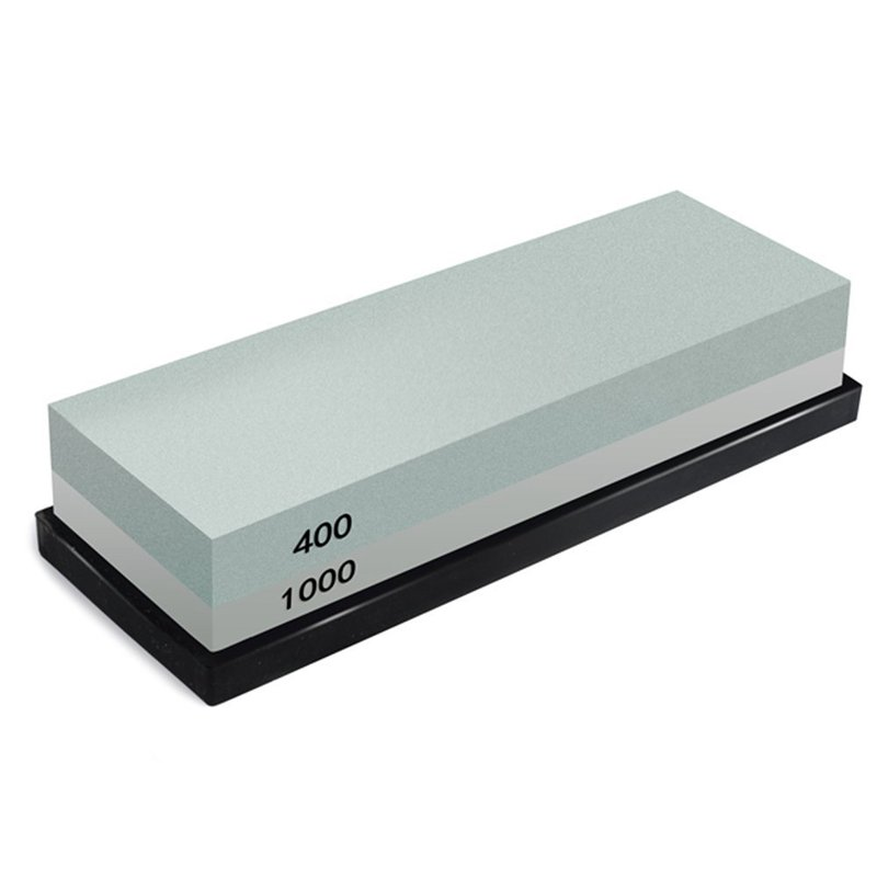 TOP!-Whetstone, 2-IN-1 Sharpening Stone 400/1000 Grit Waterstones, Knife Sharpener Rubber Stone Holder Included(China)