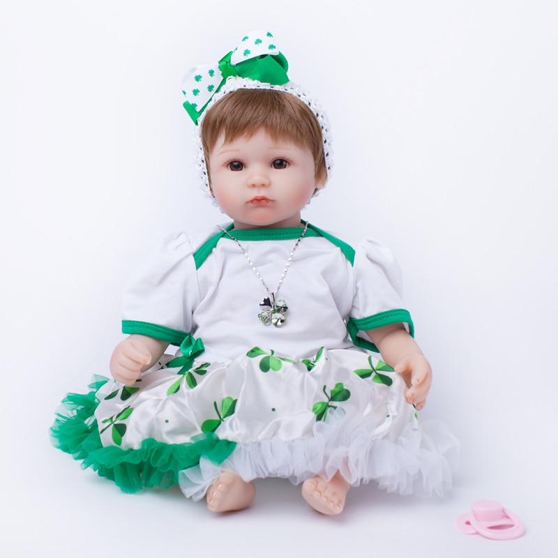 ФОТО cute 2017 Reborn Babies Dolls Cotton Body Children Gift Baby Girl Reborn Fashion Dolls Lovely Brinquedo Para Menina