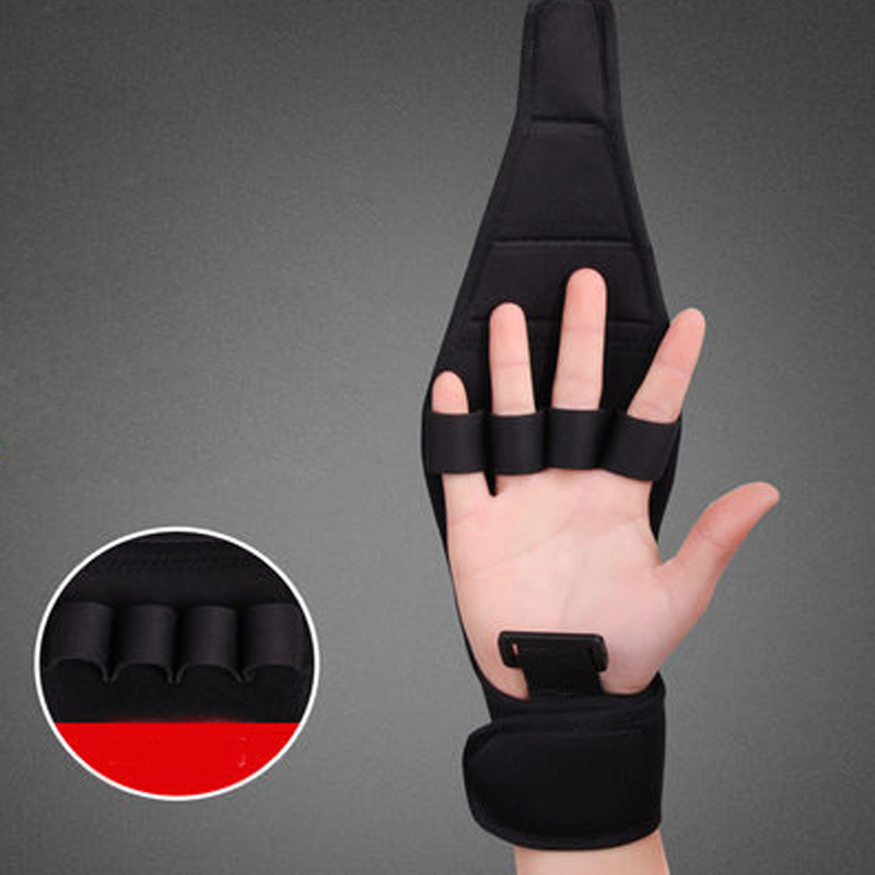 Rehabilitation Auxiliary Fixed Glove Finger Exerciser Anti-Spasticity Splint Hand Functional Impairment Finger Training Gloves 3 hand wrist orthosis separate finger flex spasm extension board splint apoplexy hemiplegia right left men women
