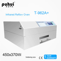 2300W PUHUI T 962A+ Reflow Wave Oven Infrared IC Heater T962A+ Reflow Oven LED BGA SMD SMT Rework Sation 450*370mm