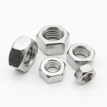 1/2/5/10/25/50/100X M1 M1.2 M1.4 M1.6 M2 M2.5 M3 M3.5 M4 M5 M6 M8 M10 M12 M16 M20 M24 DIN934 hexagonal de acero inoxidable 304 tuerca hexagonal
