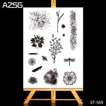 New Arrivel Art Effect Flowers Clear Silicone Stamp/Seal for DIY Scrapbooking/photo Album Decorative Stamp Sheets