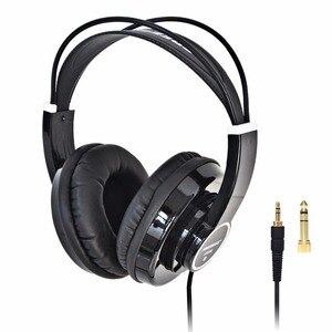 Image 1 - HP288 ハイファイヘッドフォンセミオープン過耳 3.5 6.3 プラグイン調整と軽量ヘッドバンドハイファイヘッドセットヘッドフォン