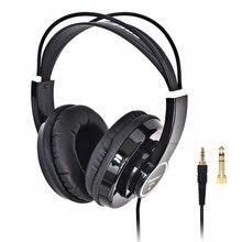 HP288 Hi Fi kulaklık yarı açık aşırı kulak 3.5 6.3 fiş ayarlanabilir ve hafif kafa bandı HiFi kulaklık kulaklık