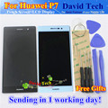 High Quality New LCD Display + Digitizer Touch Screen Glass Assembly For Huawei P7 Cellphone 5.0 inch 1920*1080 Black White Tool