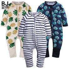 Opowieści dla dzieci 2020 nowy Baby Girl pajacyki 3 sztuk z długim rękawem słodkie druku ubranka dla chłopców noworodków maluch jumpersuits w wieku 0 2 ubranko niemowlęce BBR2251