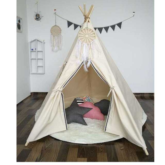 nouveau design vente chaude enfants jouent tente tipi indien enfants playhouse enfants salle de. Black Bedroom Furniture Sets. Home Design Ideas