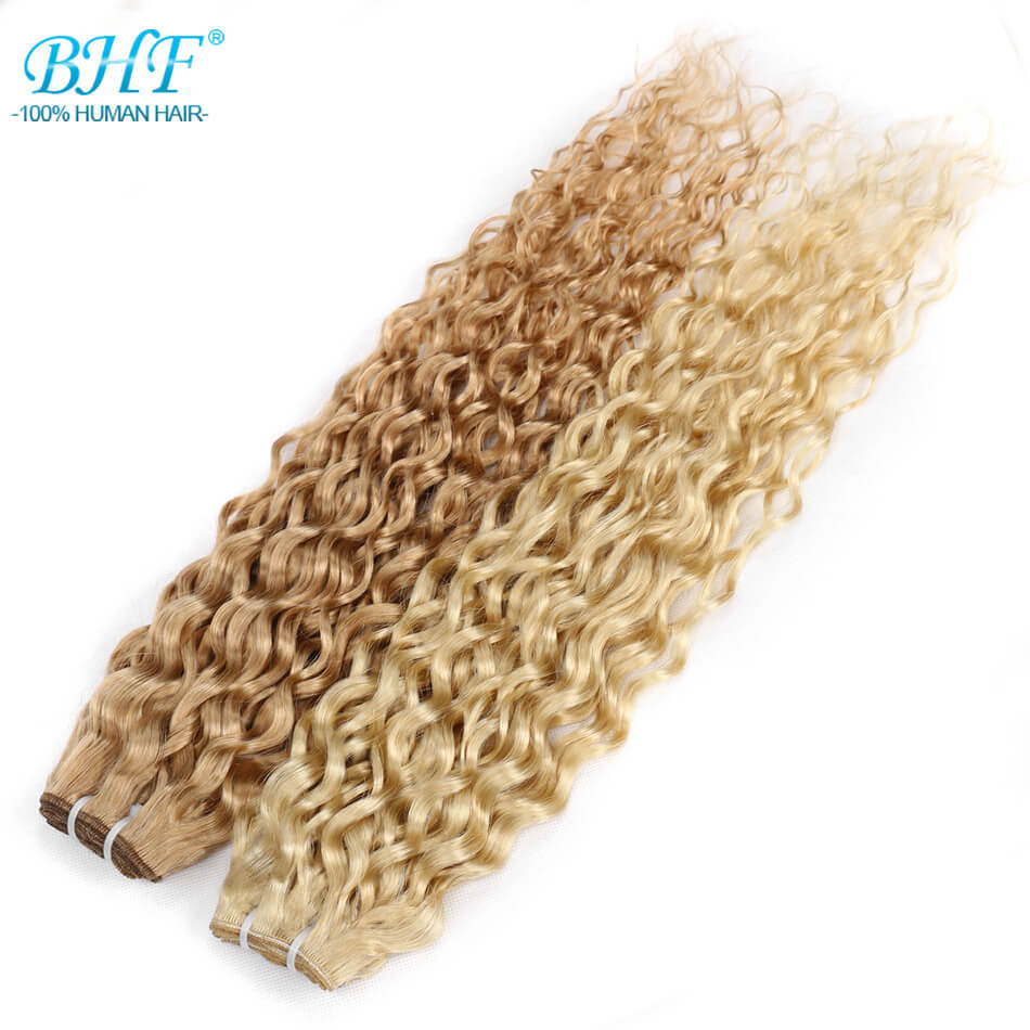 BHF P27 613 Water Weave Human hair 100g pack Machine Remy Hair Weft 18 20 22