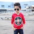 Мальчики одежды Осень 2016 дети Мода Свитер Балахон Куртка рукав головы мальчик и Корейских детей одежда A264