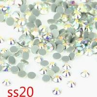 Promotion AB Flatback DMC HotFix Stone DIY Rhinestone SS20 Crystal Stone For Phone 100Gross.
