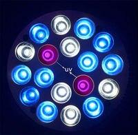 LED Aquarium Light 18W E27 18W UV + Blue + White Led Plant Grow Lamp For Freshwater Fish Plant Marine Aquarium Coral Grow Lights