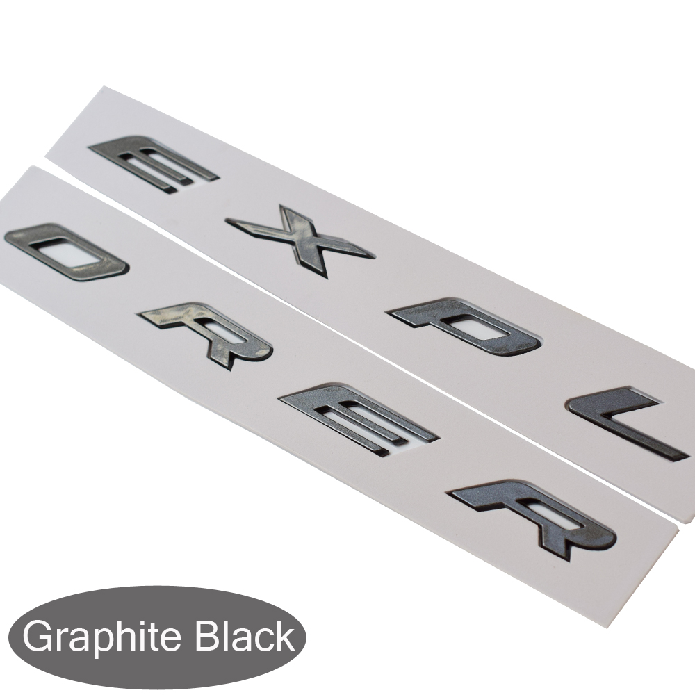 DIY Black Graphite Gloss Matte Silver Hood Emblem 3D Fixed Letter Logo Sticker For Ford  ...