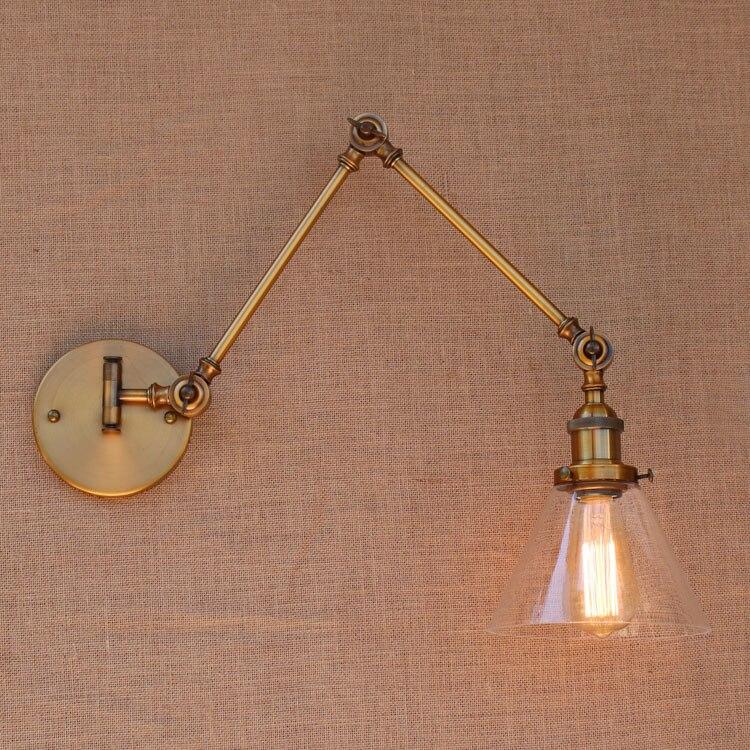 Verre Rustique Laiton Loft Industriel Applique Murale VIntage Rétro  Balançoire Long Bras Lampe Appliques Luminaire Aplique Murale Arandela Dans  LED ...