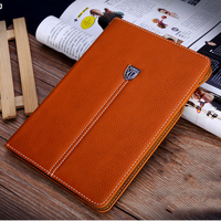 Luxury Noble Series Business Shockproof Flip Wallet Stand Cover Genuine PU Leather Case For IPad Mini