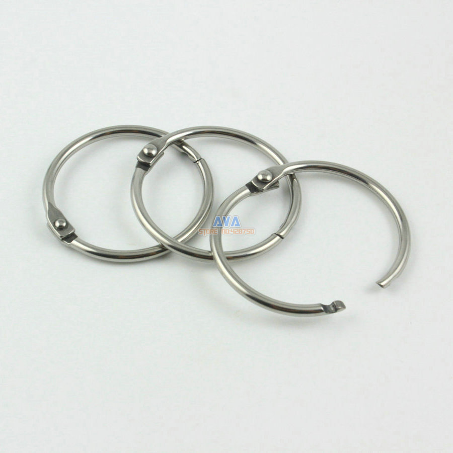 20 Pieces 27mm Stainless Steel Curtain Rings Curtain Open Rings Sliding Hook Rings