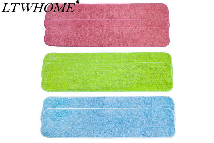 """LTWHOME 24"""" Multi-Color Combination Microfiber Commercial Mop Refill Pads Fit for Wet or"""