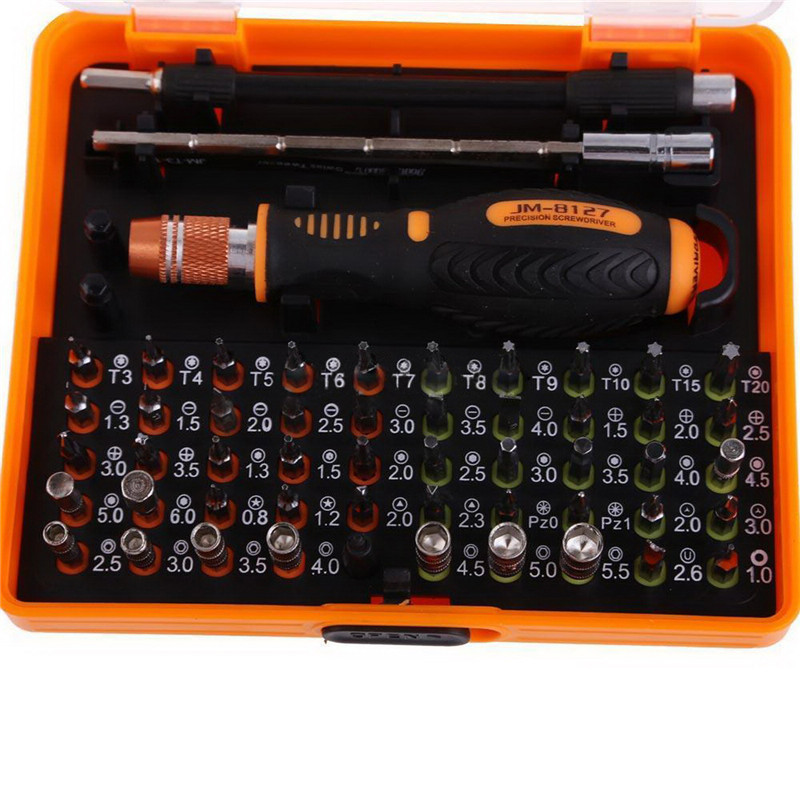High Quality 53 in 1 Multi-Bit Precision Torx Screwdriver Tweezer Cell Phone Repair Tool Set  VER34 P20 repair 53 in1 cross precision star torx flat hex screwdriver tools set tweezer