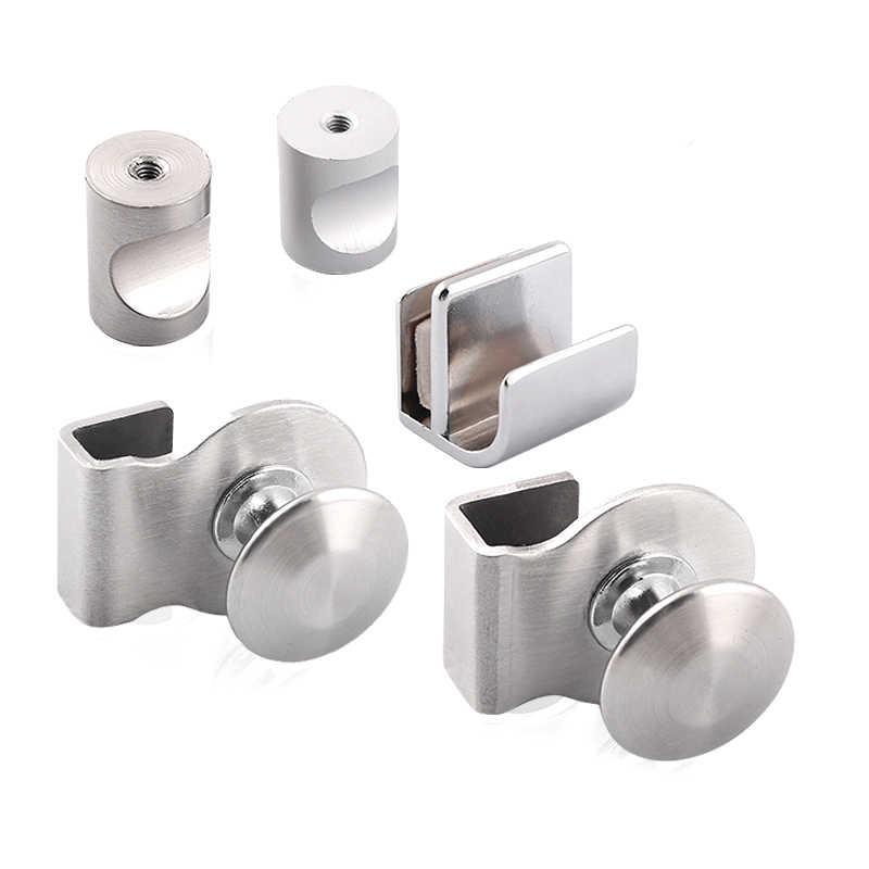 2pcs Glass Door Handle Stainless Steel Handle Free Drilling Home Office Cabinet Door Accessories