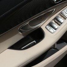 2 шт. для Mercedes Benz C-Class W205 GLC класса X253 2015-2018 автомобилей дверные ручки коробка для хранения лоток аксессуары для левым