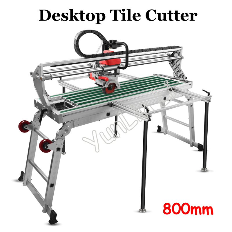 Desktop Tile Cutter 800mm Automatic Electric Tile Cutting Machine 45 Degree Infrared Tile Chamfered Edge Grinding 9011 цена и фото