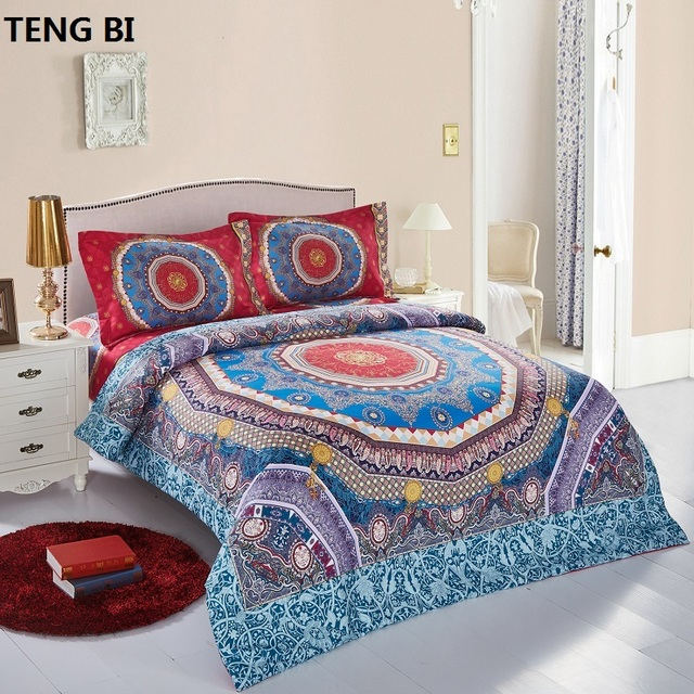 2018 New Home Textiles Design Bedding sets 4pcs  Bed Sheets Queen Size  Bohemian Style