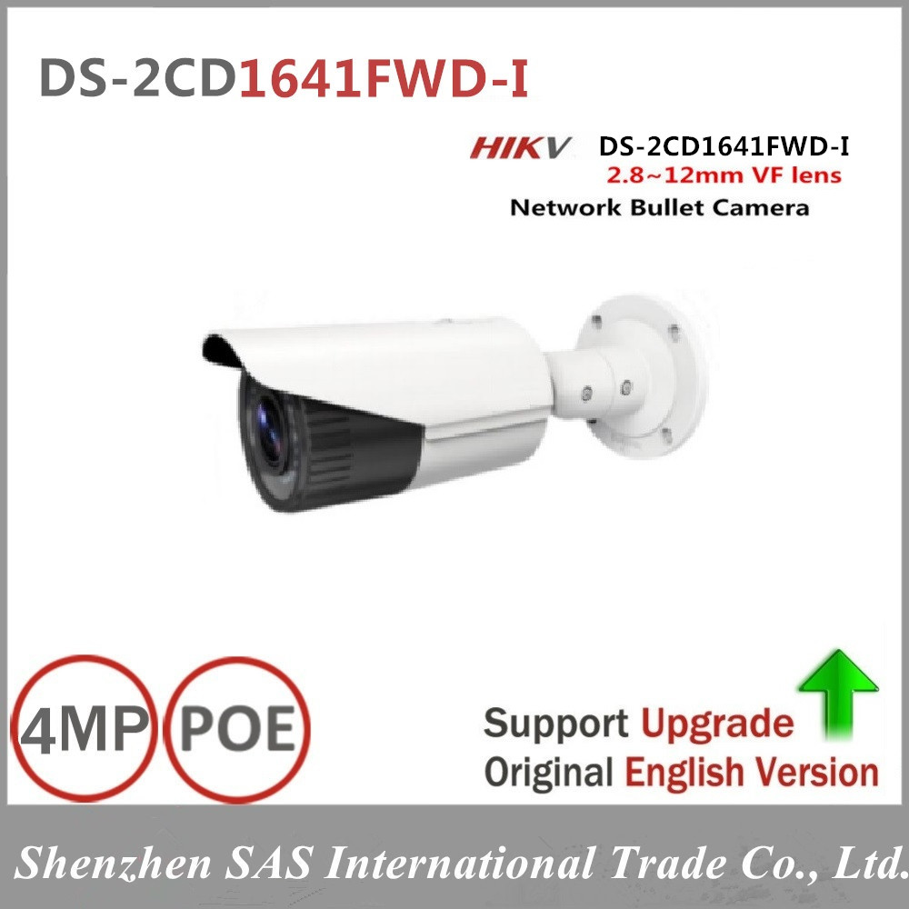 Hikvision 4MP IP Camera DS-2CD1641FWD-I 4MP Vari-focal Network Camera HD 1080p Real Time Video IR Bullet POE Cctv Camera