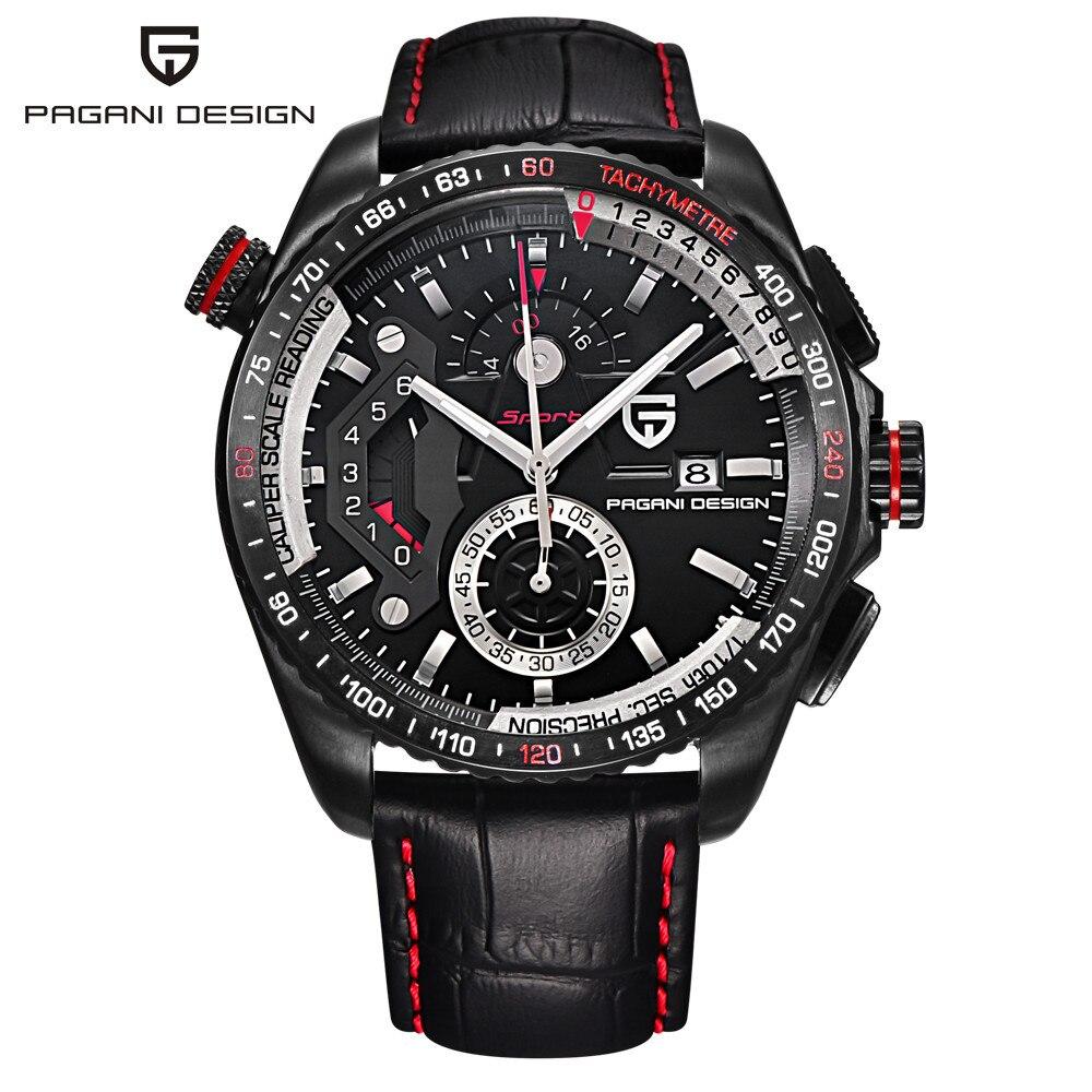 dac74830bbb PAGANI PROJETO Marca de luxo Esporte Relógios Homens reloj hombre Relógio  de Quartzo de Aço Inoxidável