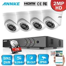 ANNKE 4CH 1080P LiteCCTV System 1080P DVR Kit 4pcs 2.0MP Outdoor Security Cameras System IR night Video Surveillance Kit