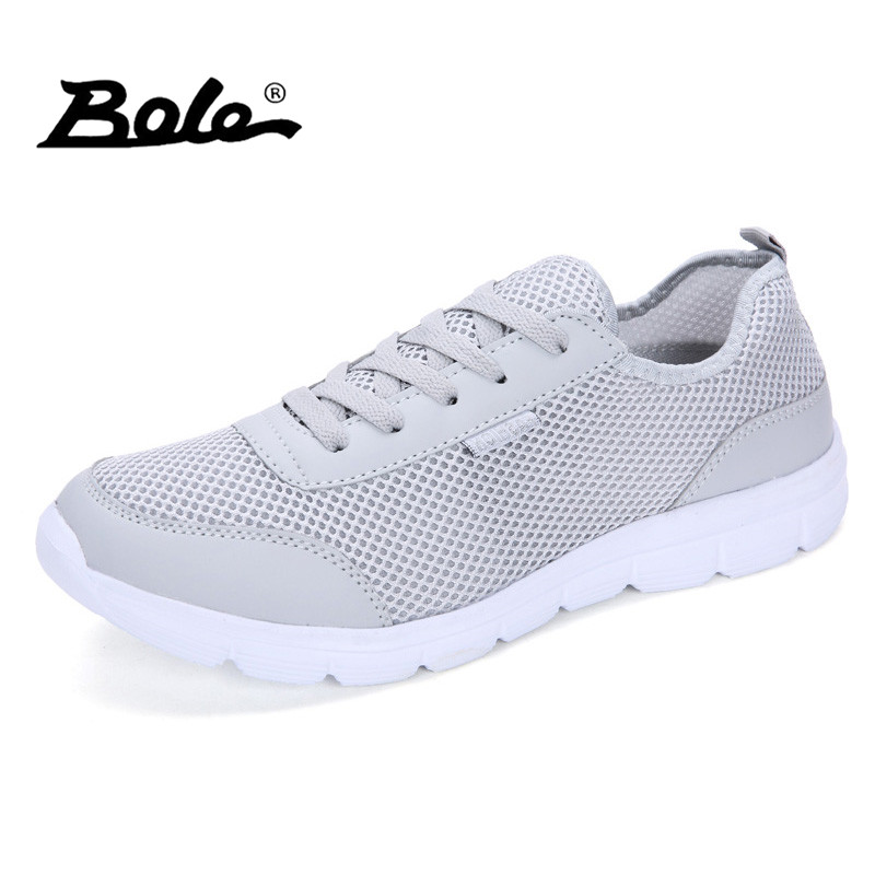 BOLE Size 35-44 Unisex Mesh Casual Shoes Summer Breathable Flat Shoes Men Light Weight Soft Casual Shoes for Men Couple Shoes dekabr brand 2018 summer shoes new arrivals lace up casual shoes mesh breathable light weight male soft men shoes big size 38 45