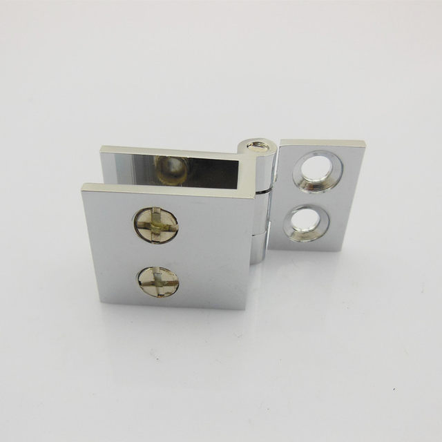 Alloy Hinge Bar Glass Door Cabinets Showcase Hardware Suitable For Thickness 5 8mm 90 180 0 Degree
