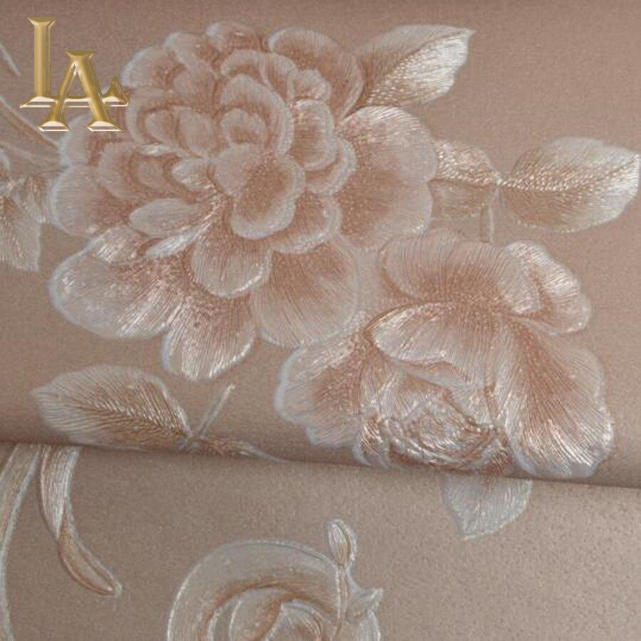 Popular Brown Floral Wallpaper-Buy Cheap Brown Floral ...