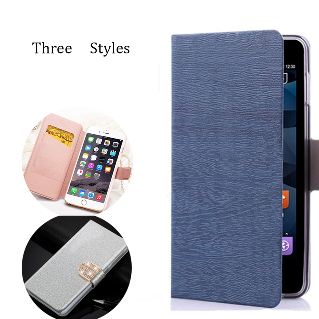 (3 Styles) For BQ X5 Plus Case High Quality Silk Skin Leather Wallet Magnetic Flip Case Cover For BQ Aquaris X5 Plus Case